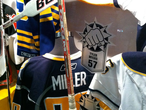 Buffalo Sabres Playmakes Enforcers Goalies Display